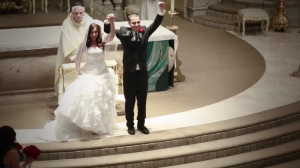 Bride and Groom at St. Denis Catholic Church in Los Angeles Wedding Video