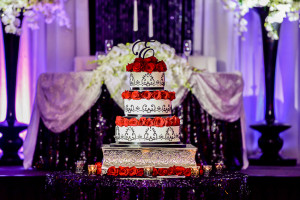 Wedding Cake inside Ballroom during Reception