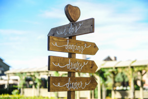 Welcome Sign to Temecula Winery Wedding