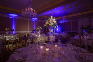 Interior Wedding Reception Decour at Langham Huntington Hotel Pasadena