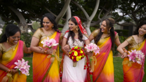 Bride and Bridesmaids in Westridge Golf Club Indian Wedding Video