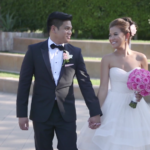 Bride and Groom walking in Wedding Highlight Video in Long Beach