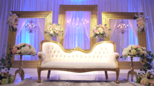 Indian Wedding Reception decour at Sheraton Park Hotel at the Anaheim Resort from Highlight Film